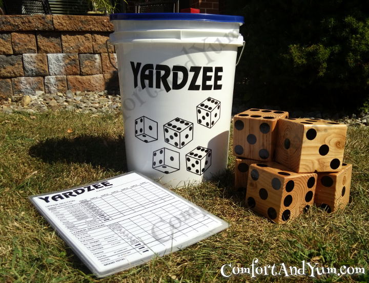 picture about Yardzee Rules Printable titled YARDZEE! A Bucket of Enjoyable for Household and Good friends! Comfort and ease Yum
