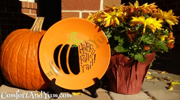 Happy Fall Y'all Plate