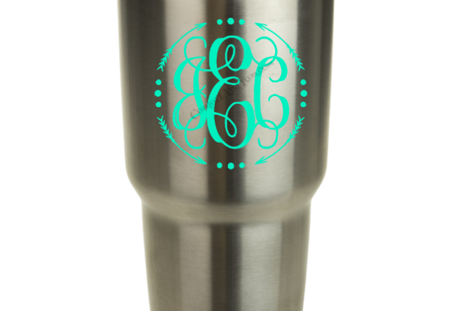 Curly with Border on YETI